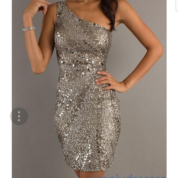 75% off Scala Dresses Silver Sequin Cocktail Dress   Poshmark